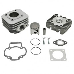 HAUT MOTEUR SCOOT ADAPTABLE PIAGGIO 50 ZIP 2T, TYPHOON, LIBERTY 2T-GILERA 50 STALKER, ICE-APRILIA 50 SR AIR  -ALU NIKASIL AIRSAL