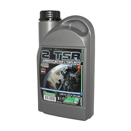 HUILE MOTEUR 2 TEMPS MINERVA 50 A BOITE-MOTO TSR SYNTHESE  (1L)  (100% MADE IN FRANCE)