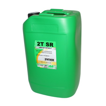 HUILE MOTEUR 2 TEMPS MINERVA 50 A BOITE-MOTO TSR SYNTHESE (25L) (100% MADE IN FRANCE)