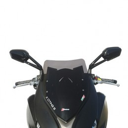 BULLE-SAUTE VENT MAXISCOOTER POUR KYMCO 400 X-CITING S 2018+ FUME FONCE (H 480mm - L 330mm)  -FACO- BULLE-SAUTE VENT MAXISCOOTER