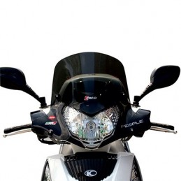 BULLE-SAUTE VENT MAXISCOOTER POUR KYMCO 125 PEOPLE GTI 2010+2014, 300 PEOPLE GTI 2010+2014 FUME FONCE (H 360mm - L 495mm)  -FACO