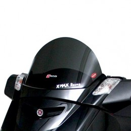 BULLE-SAUTE VENT MAXISCOOTER POUR YAMAHA 125 XMAX 2006+2013-MBK 125 SKYCRUISER 2006+2013 FUME FONCE (H 295mm - L 525mm)  -FACO-